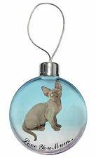 Devon Rex Kitten 'Love You Mum' Christmas Tree Bauble Decoration Gi, AC-175lymCB