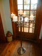 "GRANDE 35"" 90 cm Wedding tavolo Pavimento TABLE pilastro candela fiore Argento Candelabri"