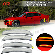 FOR 2015 2016 2017 2018 DODGE CHARGER LED SIDE MARKER LIGHT LAMP Assembly CLEAR