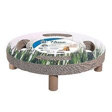 Catit Design Cat - Elevated Bed Sisal Spinning Toy -home 3in1 Catnip Scratcher