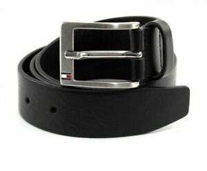 TOMMY HILFIGER  ALY Leather BLACK Belt 3.5   All sizes  32-44  Stock in the UK