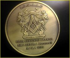 """Brotherly Love Relief & Truth Masonic  Antique Bronze Souvenir Coin 2"""" or 5cm"""