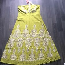 "Monsoon strapless dress cotton tag £55 size 8 26"" waist holiday"