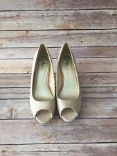 Beautiful Patent Leather Nude Diba Peep Toe High Heel Shoe - Size 9.5M