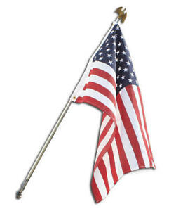 Annin Flagmakers 3' x 5' American Flag with 6 ft. Steel Flagpole Kit Made In USA