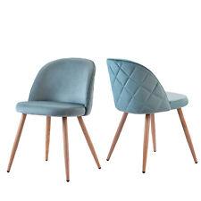 2-tlg Esszimmerstuhl Wohnzimmerstuhl Polsterstuhl Loungesessel Stühle mit Rücken