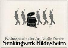 Kochtopf Senking Hildesheim Reklame Herd 1918 Ludwig Hohlwein Soldat Pickelhaube