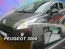 PEUGEOT 3008 mk1 5door hatchback 2009-2016 wind deflectors 4pc HEKO TINTED new