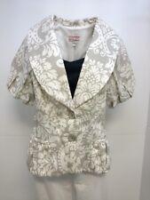3 Sisters Jacket S(2-4) Julian Women's Linen Blend Dressy Blazer Coat Top 5163