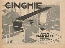 Z0013 Cinghie Rossi Masera - Milano - Pubblicità del 1926 - Advertising