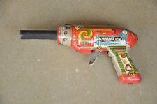 Vintage Mechanical Rubina Gun Litho Sparkle Tin Toy , Rich patina