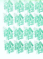1971 STRIKE MAIL KING ARTHURS KNIGHTS POSTAL SERVICE GREEN IMP STAMPS x 16 MNH