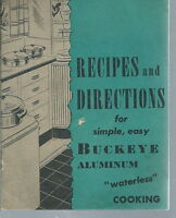 AD-025 - Buckeye Aluminum, Recipes and Directions For, 1940's, Vintage