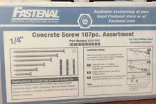 Fastenal Concrete Screw Set 107pc Assortment Kit 1/4'' x 1.75''-3.75''