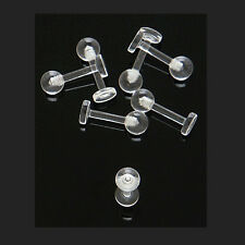 "12 Pc 14g 5/16"" Acrylic Ball Barbell Lip Labret Piercing Retainers Non Metal"