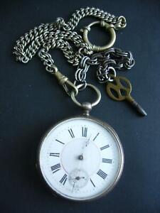 Aus Nachlass - Alte silberne Taschenuhr von ca. 1900