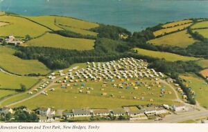 Standard size printed postcard Rowston Caravan Tent Park New Hedges Tenby