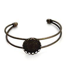 1pc Blank Bangle Base Fit 20mm Cabochon Settings Antique Bronze for Bracelet DIY