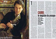 COUPURE DE PRESSE CLIPPING 2004 Francis Cabrel  (2 pages)