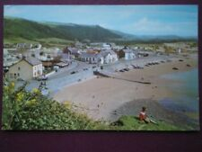 POSTCARD CARMARTHENSHIRE PENDINE - LOW TIDE - LOOKING DOWN ACROSS BAY WITH VILLA