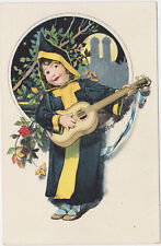 Munich,Germany,Munchner Kindl Playing Guitar,c.1909