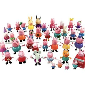 Large Lot Of Peppa Pig And Friends Figures