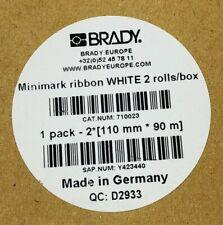 Brady Minimark 710023 Ribbon White 110mm X 90m Nib