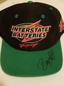 BOBBY LABONTE-INTERSTATE BATTERIES-Autographed/Signed-HAT-NEW