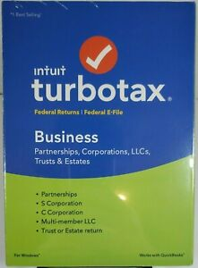 Intuit TurboTax Business Federal Returns 2018 Plus Federal E-File for Windows