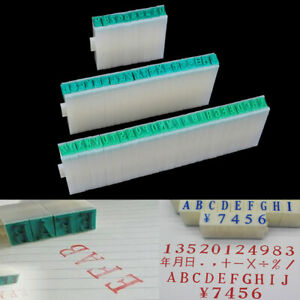 1 Set English Alphabet Letters Numbers Rubber Stamp Free Combination Diy Cr_cd