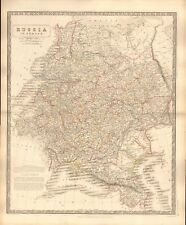 1844 LARGE ANTIQUE MAP- JOHNSTON - RUSSIA IN EUROPE
