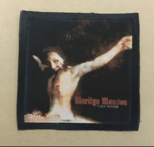 Marilyn Manson sew on patch antichrist holy wood band rock metal nu merch tour