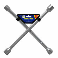 Goodyear Professional Fixed Cross Wheel Wrench 17 / 19/ 21 / 23mm Car Truck Van
