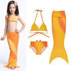 tout-petit enfant fille Sirène maillot de bain bikini plage déguisement
