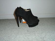 Zara Basic Black Platform Stiletto Heel Shoes Size 8 New