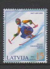 Latvia - 2002, Winter Paralympic Games stamp - V/L/M - SG 576