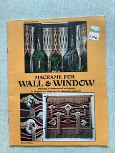 Vintage 1970s MACRAME FOR WALL & WINDOW Booklet Macrame Instruction