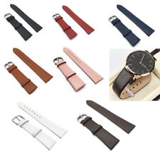 Vintage Genuine Leather Watch Band Replacement Strap Wrist band 12 16 18 20 22mm