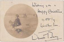 RPPC,O W Square,Lincoln's Inn,London Borough of Camden,U.K.Beach Scene,Used,1904