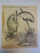 Harold Talburt Original Illustration Art Wwii Axis Powers Cartoon 1938