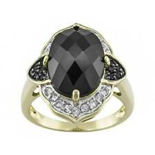 Spinel White Topaz 18k Yellow Gold Over Sterling Silver Ring
