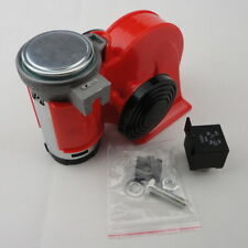 12V Car Snail  Dual Tone Electric Pump Siren Loud Air Horn Free Ship