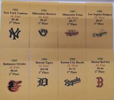 "Strat-O-Matic Baseball 80's DIAMOND SET Series ""B"" Storage Envelopes"
