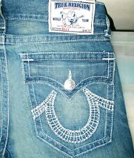 *HOT AUTHENTIC Men TRUE RELIGION @ BILLY -WH BOOTCUT DISTRESS Denim Jeans 33 x30
