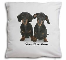 Dachshund Dogs 'Love You Mum' Soft Velvet Feel Cushion Cover With, AD-DU2lym-CPW