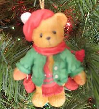 "Cherished Teddies Christmas Ornament ""Bear With Dangling Mittens"" 177768"