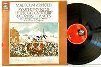 Malcolm Arnold Symphony No 5 Peterloo Overture [EMI Angel] LP Vinyl Record Album
