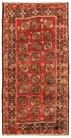"""Hand-knotted Carpet 3'11"""" x 8'2"""" Traditional Vintage Wool Rug"""