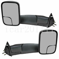 For 94-01 Dodge Ram 1500 94-02 2500 3500 Pickup Manual Tow Mirrors None-Heated