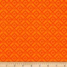 1 in A Minion Despicable Me Geo Blender Orange 100% Cotton Fabric by the yard